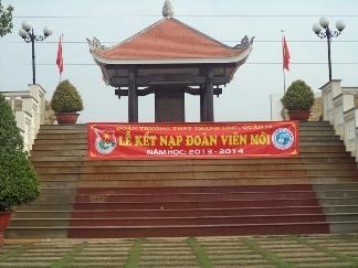 Lễ kết nạp Đoàn viên mới tại Nhà Truyền Thống An Phú Đông