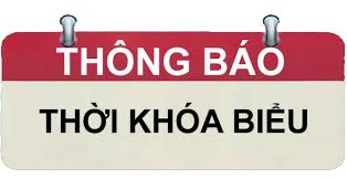 THỜI KHÓA BIỂU - HKI- 2020 - 2021